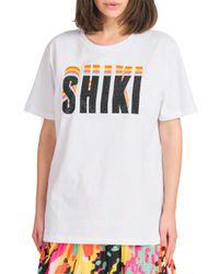 Silvia - t-shirt over stampa shiki - Shiki - Modalova