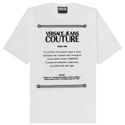 Logo Plaque T-shirt - EXTRA SMALL - Versace Jeans Couture - Modalova