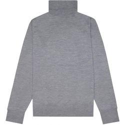 Men's Turtle Neck Knitwear Grey - MEDIUM - Z Zegna - Modalova