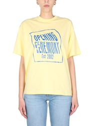T-shirt with logo print - opening ceremony - Modalova