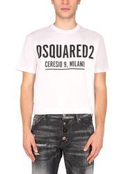 Dsquared crew neck t-shirt - dsquared - Modalova