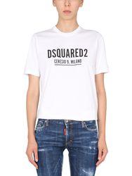 Renny fit t-shirt with logo - dsquared - Modalova