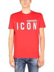 """Dsquared """"icon"""" crew neck t-shirt - dsquared - Modalova"""