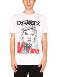 Dsquared printed t-shirt - dsquared - Modalova
