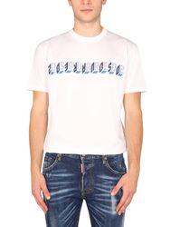 Dsquared t-shirt with mirror logo - dsquared - Modalova