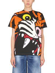 Dsquared oversize fit t-shirt - dsquared - Modalova