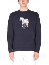Zebra crew neck sweatshirt - ps by paul smith - Modalova