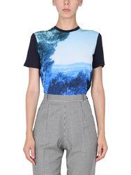 T-shirt with landscape print - ps by paul smith - Modalova
