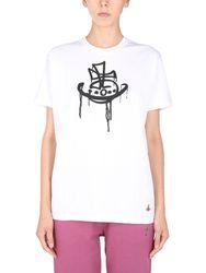 "Drip classic"" t-shirt - vivienne westwood - Modalova"