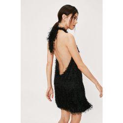 Fringe Halter Neck Mini Swing Dress - Nasty Gal - Modalova