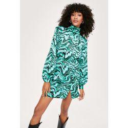 Abstract Swirl Print High Neck Mini Dress - Nasty Gal - Modalova