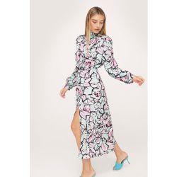 Abstract Floral High Neck Midi Dress - Nasty Gal - Modalova