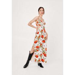 Floral Print Open Back Maxi Slip Dress - Nasty Gal - Modalova