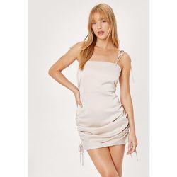 Petite Ruched Side Satin Mini Dress - Nasty Gal - Modalova