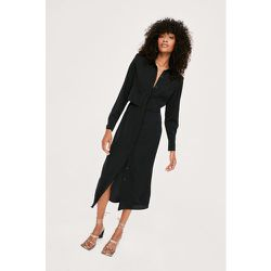 Belted Relaxed Long Sleeve Midi Shirt Dress - Nasty Gal - Modalova