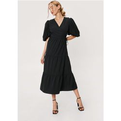 Puff Sleeve Tiered Maxi Wrap Dress - Nasty Gal - Modalova
