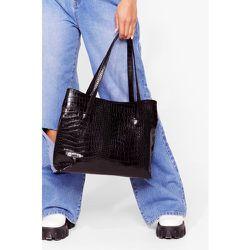 Tote Bag Want En Similicuir Effet Croco - Nasty Gal - Modalova
