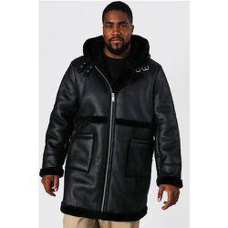 Veste style aviateur effet cuir Grandes tailles - - XXXL - Boohooman - Modalova