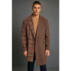 Manteau long bicolore à carreaux - Boohooman - Modalova