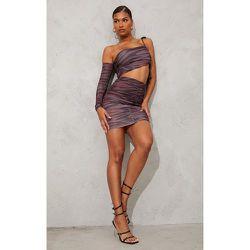 Mini-jupe moulante imprimé zèbre à côtés froncés - PrettyLittleThing - Modalova