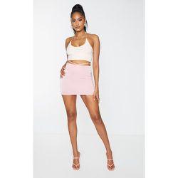 Mini jupe en maille tissée à taille nouée - PrettyLittleThing - Modalova