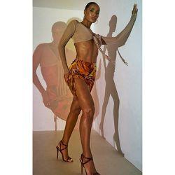 Mini-jupe en mesh imprimé marbre effet froncé - PrettyLittleThing - Modalova
