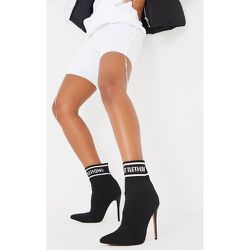 Bottines chaussettes pointues en maille - PrettyLittleThing - Modalova