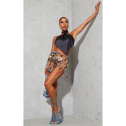 Mini-jupe imprimé abstrait à découpes - PrettyLittleThing - Modalova
