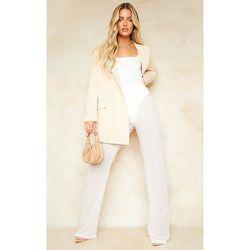 Pantalon large en mousseline de soie texturée - PrettyLittleThing - Modalova