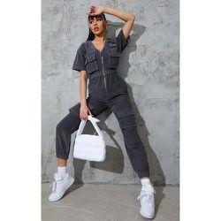 Combinaison à manches courtes en velours cotelé style cargo à poches - PrettyLittleThing - Modalova