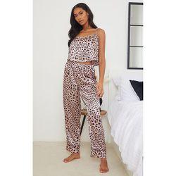 Pantalon de pyjama satiné imprimé léopard Mix & Match - PrettyLittleThing - Modalova