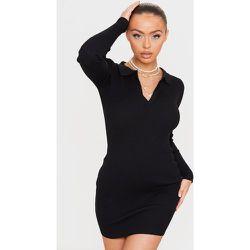 Mini robe moulante en maille tricot côtelée à manches longues - PrettyLittleThing - Modalova