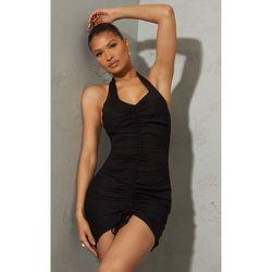 Robe moulante en maille tissée à dos nu et fronces - PrettyLittleThing - Modalova