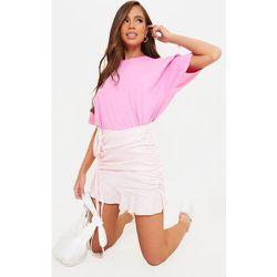 Mini-jupe froncée imprimé vichy en maille tissée - PrettyLittleThing - Modalova
