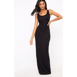 Basic robe maxi noire, Noir - PrettyLittleThing - Modalova