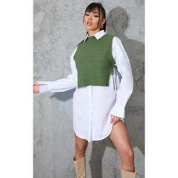 Top ample en maille tricot à côtés noués - PrettyLittleThing - Modalova