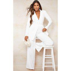 Pantalon de tailleur ample en maille légère à couture frontale - PrettyLittleThing - Modalova