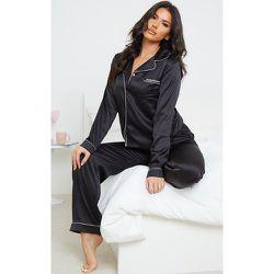 Tall - Ensemble de pyjama satiné profond à poches - PrettyLittleThing - Modalova