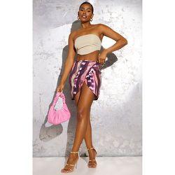 Mini-jupe moulante imprimé tourbillons tie & dye à nouer sur le côté - PrettyLittleThing - Modalova