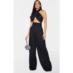 Pantalon très évasé en maille plissé devant - PrettyLittleThing - Modalova
