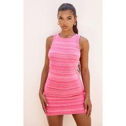 Mini robe en maille tricot à deux tons et dos nageur - PrettyLittleThing - Modalova
