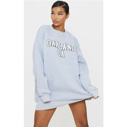 Robe pull oversize en sweat chiné à slogan Oakland - PrettyLittleThing - Modalova