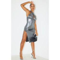 Robe mi-longue dos nu métallisé détail buste - PrettyLittleThing - Modalova