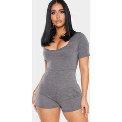 Shape - Combinaison moulante gris manches courtes en jersey - PrettyLittleThing - Modalova
