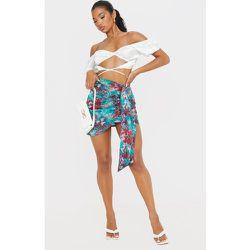Mini-jupe froncée imprimé fleuri drapée devant - PrettyLittleThing - Modalova