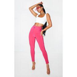 Pantalon skinny vif slinky à taille froncée - PrettyLittleThing - Modalova