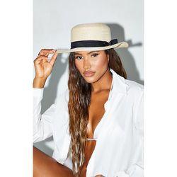 Chapeau de paille estival, Crème - PrettyLittleThing - Modalova