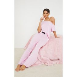 Ensemble de pyjama à top col bateau et pantalon - PrettyLittleThing - Modalova