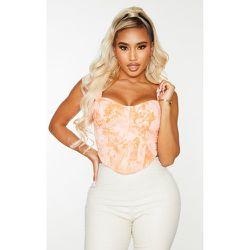 Shape - Crop top style corset imprimé tie & dye en maille tissée - PrettyLittleThing - Modalova