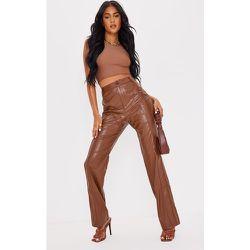 Tall - Pantalon en similicuir détail coutures - PrettyLittleThing - Modalova